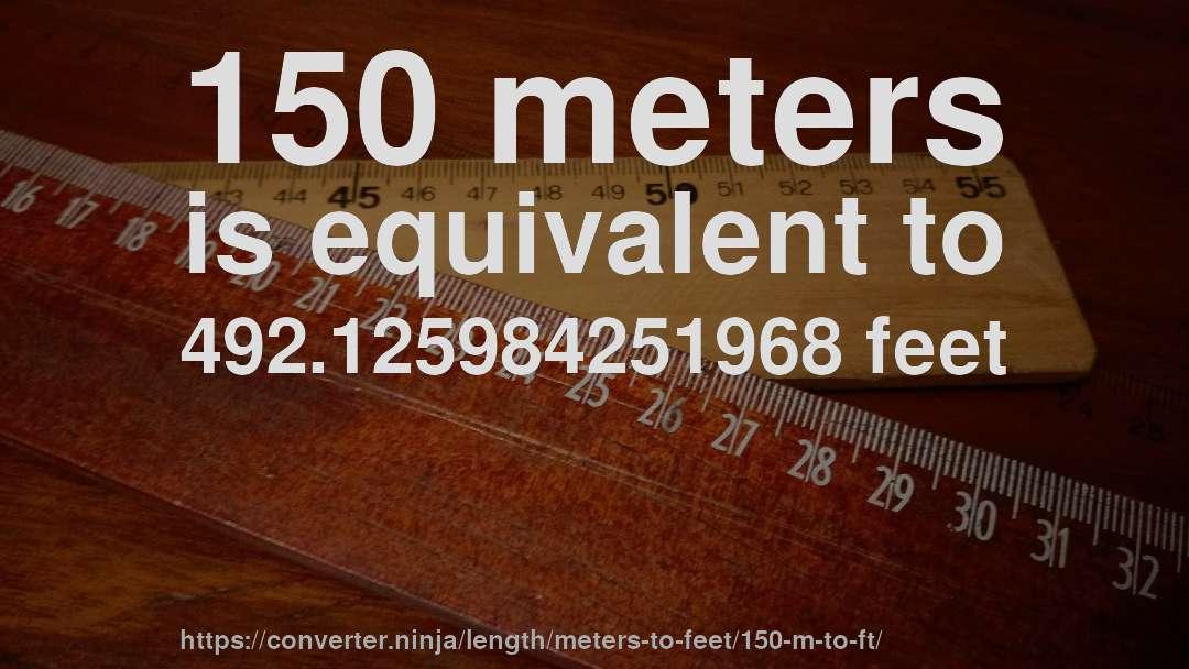 150 Meters In Feet | 150 M To Ft How Long Is 150 Meters In Feet Convert