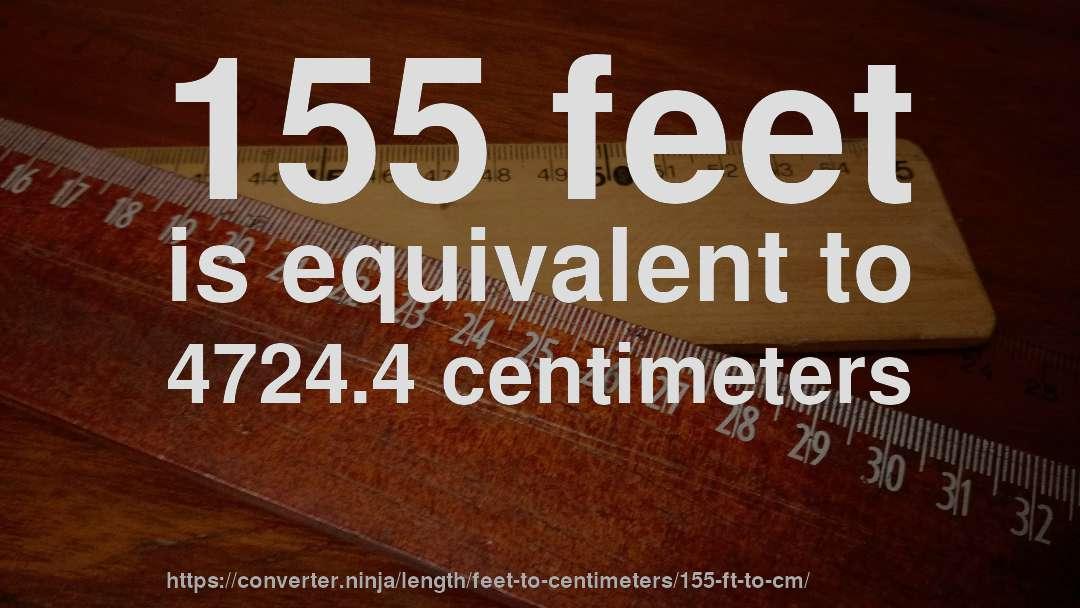 155 centimeters in feet