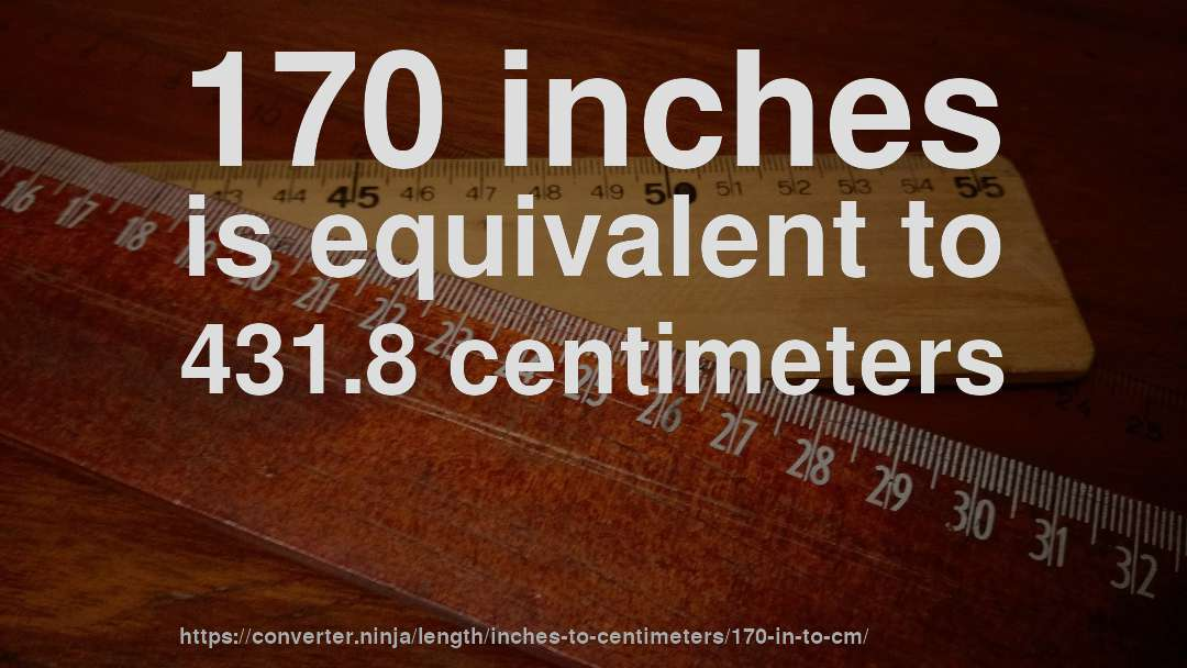 convert 170 cm to inches