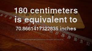 180 Cm To In How Long Is 180 Centimeters In Inches Convert