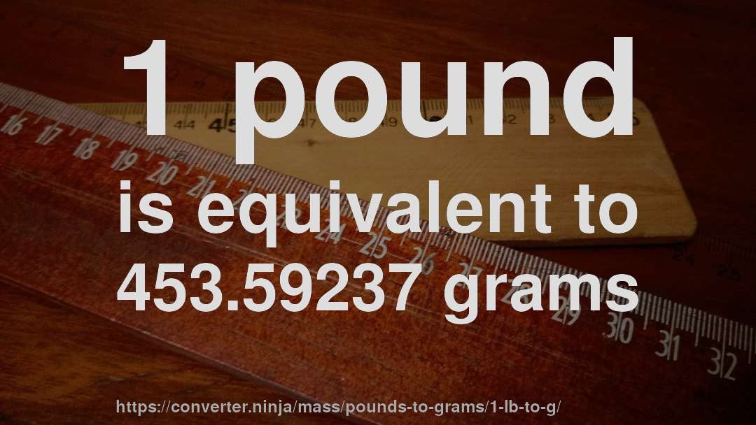 How Much Is 1 Pound In Grams