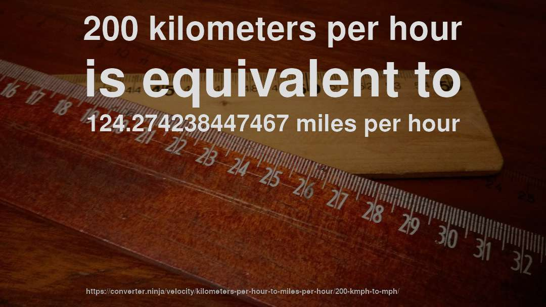 200 Kph To Mph >> 200 Km Hr To Mph How Fast Is 200 Kilometers Per Hour In