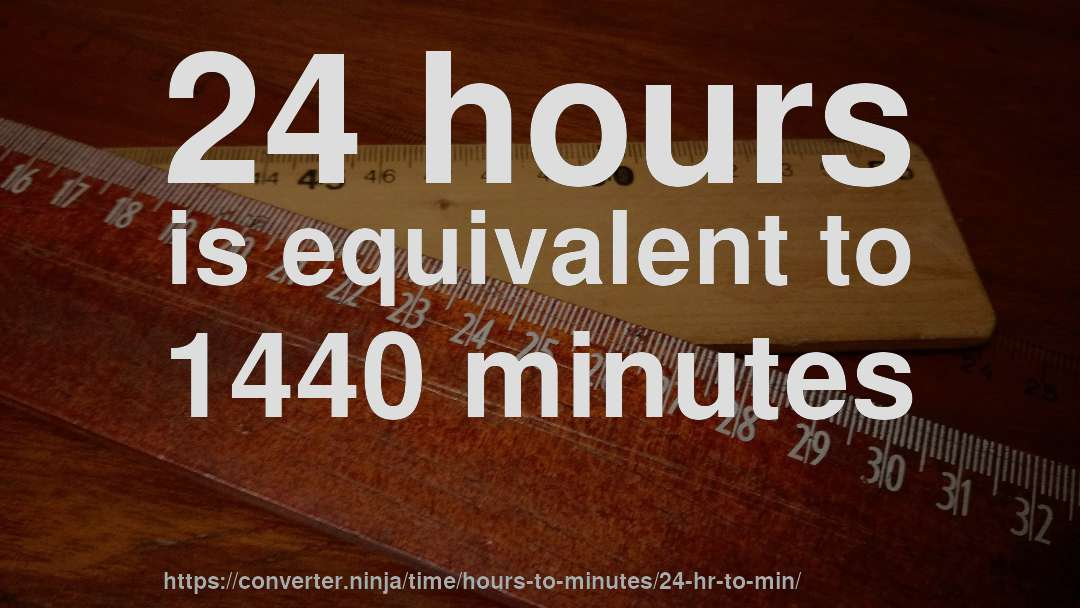 24 Hr To Min How Long Is 24 Hours In Minutes Convert