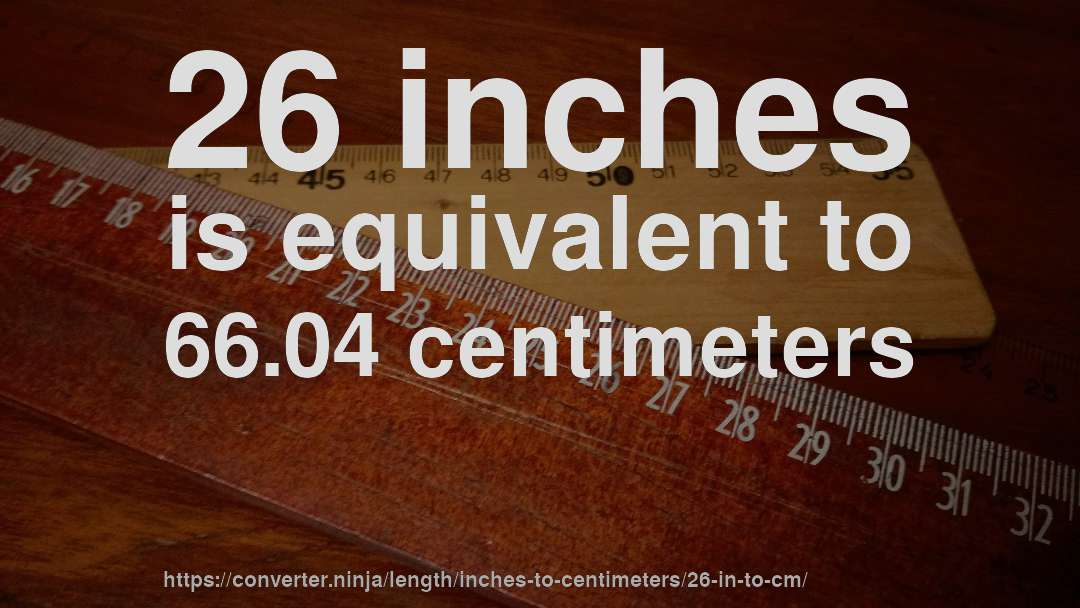 26 In To Cm How Long Is 26 Inches In Centimeters Convert