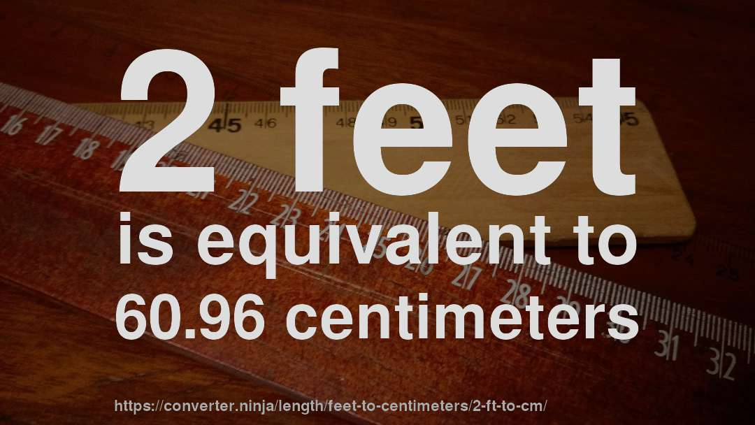 2 Feet Is Equivalent To 60 96 Centimeters