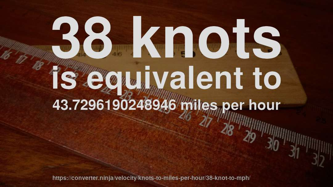 How Fast Is 38 Knots In Miles Per Hour
