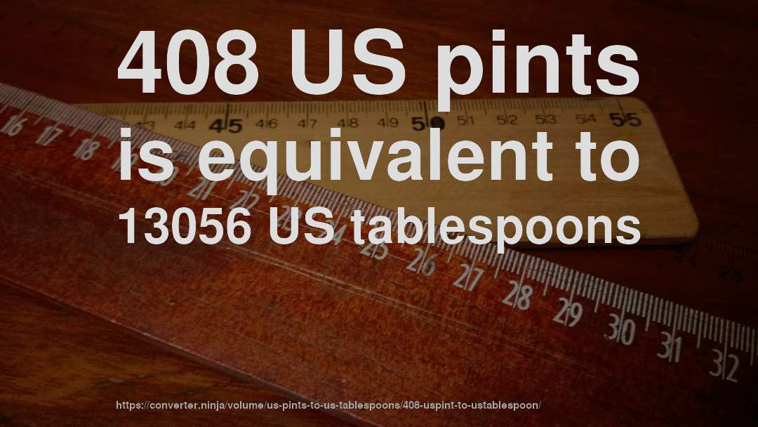 408 US pints is equivalent to 13056 US tablespoons