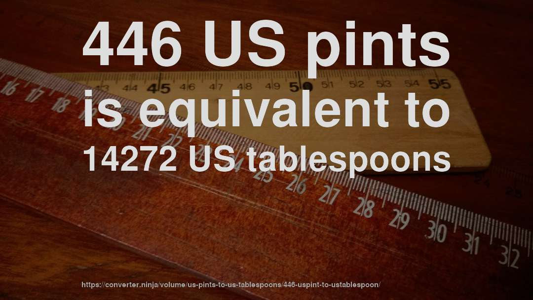 446 US pints is equivalent to 14272 US tablespoons