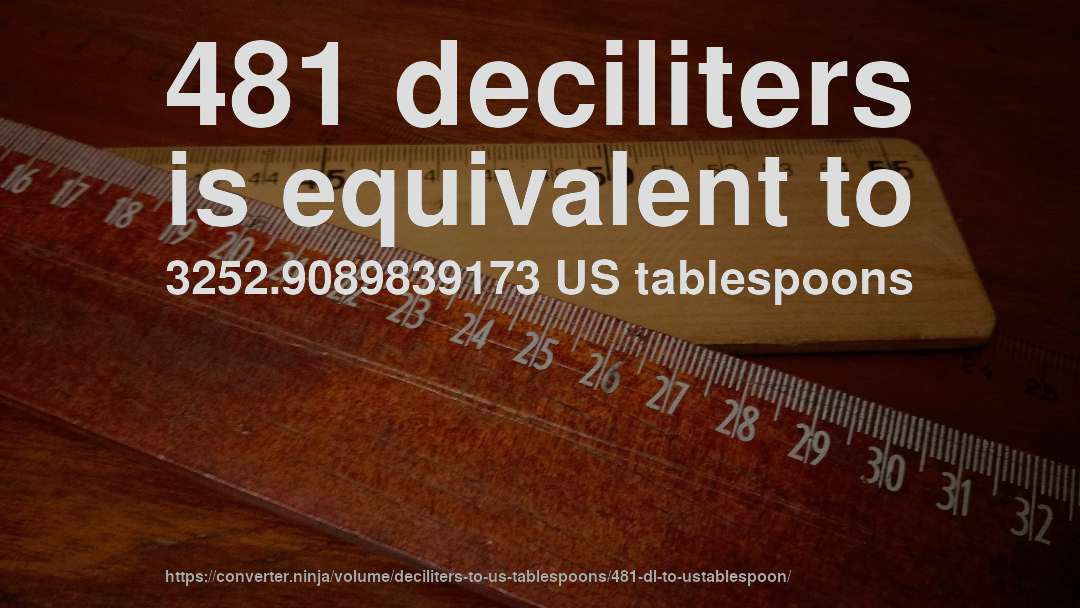 481 deciliters is equivalent to 3252.9089839173 US tablespoons