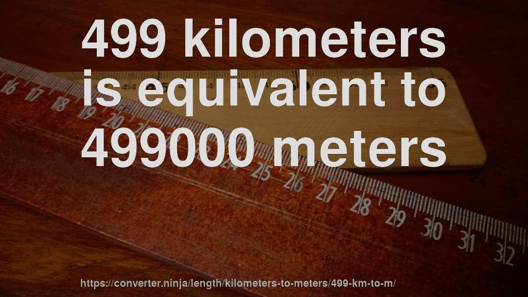 How To Convert 499 Kilometers Meters