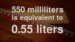 550 ml to liter how much is 550 milliliters in liters convert units converter ninja