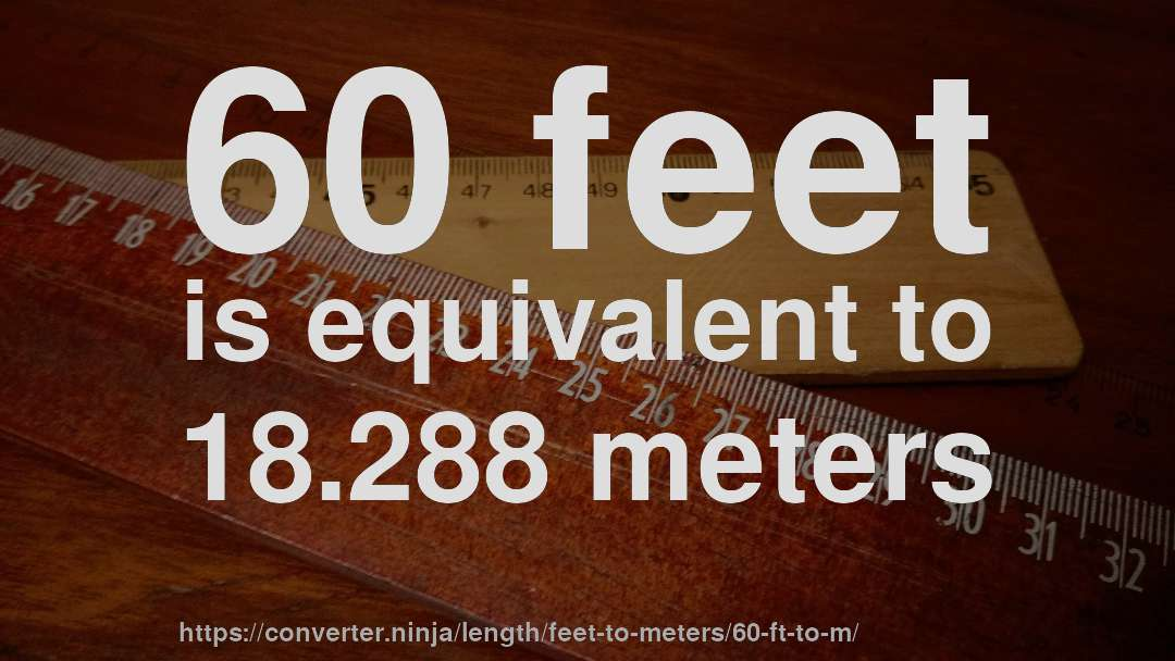 60 Feet Is Equivalent To 18 288 Meters