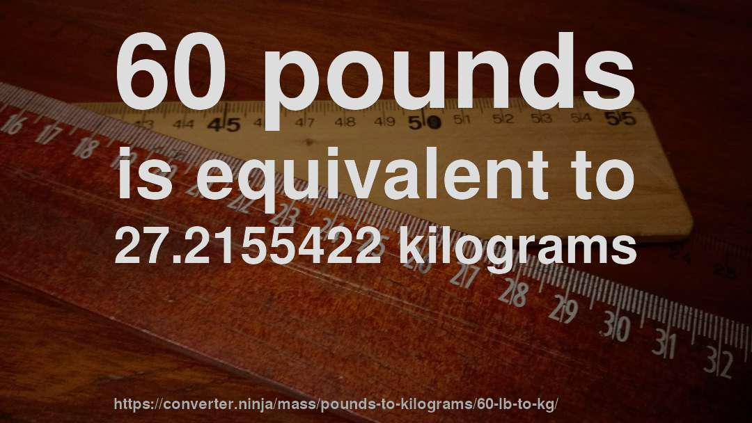 60 Lb To Kg How Much Is Pounds In Kilograms Convert