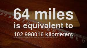 64 Mile To Km