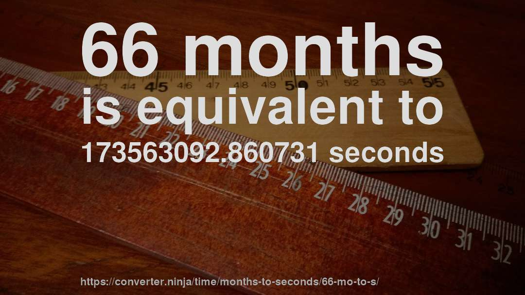 66 months is equivalent to 173563092.860731 seconds