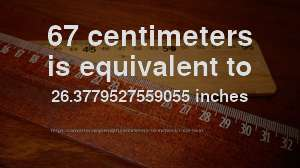 67 centimeters in inches