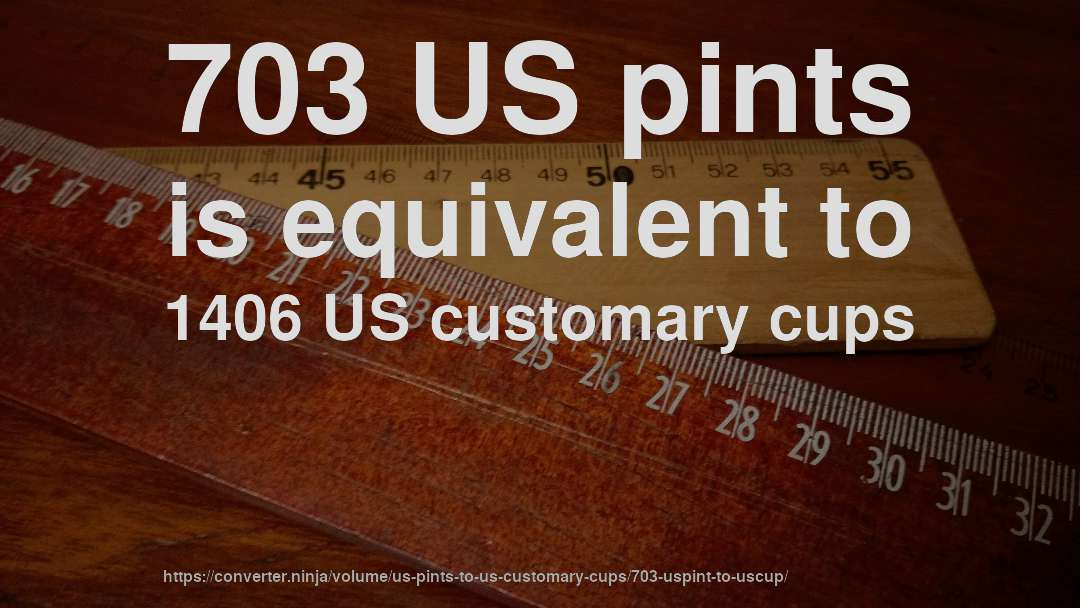 703 US pints is equivalent to 1406 US customary cups