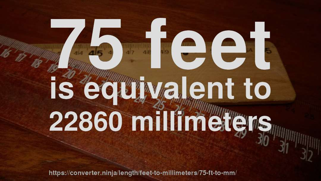 How To Convert 75 Feet Millimeters