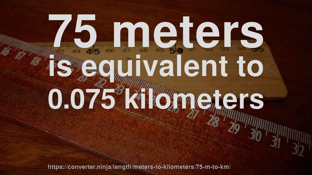75 Meters In Kilometers