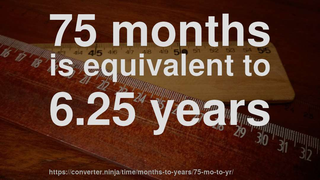 75 Months Is Equivalent To 6 25 Years