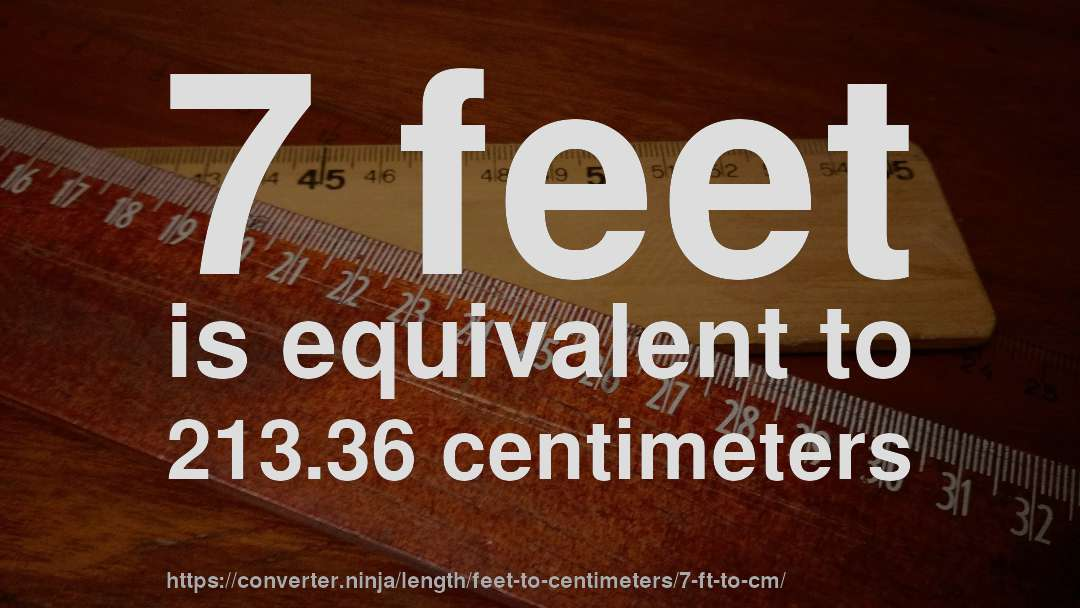 7 Feet Is Equivalent To 213 36 Centimeters