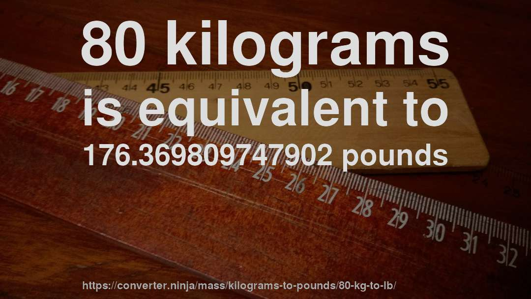 80 Kilograms Is Equivalent To 176 369809747902 Pounds