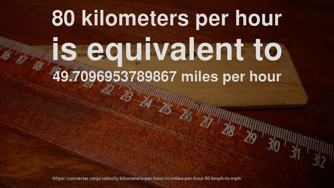 80 km/hr to mph - How fast is 80 kilometers per hour in miles per ...