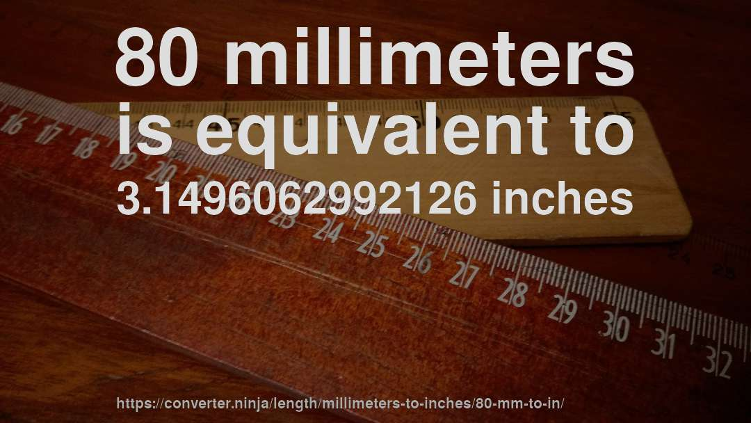 How Long Is 80 Millimeters In Inches