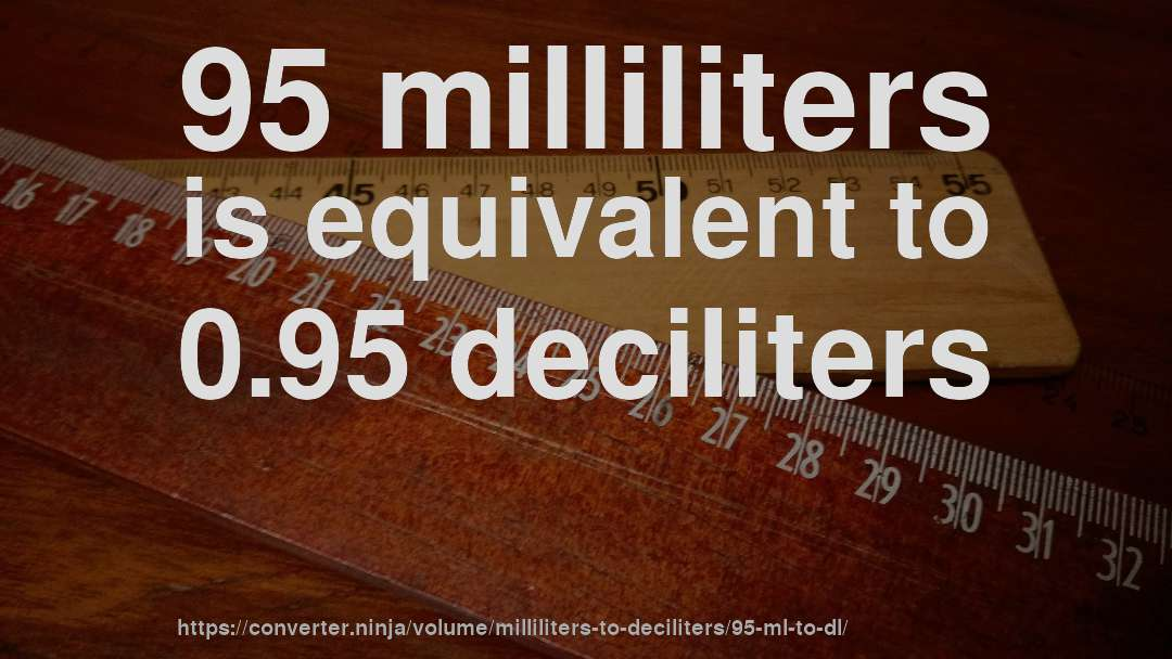 95 Milliliters Is Equivalent To 0 Deciliters