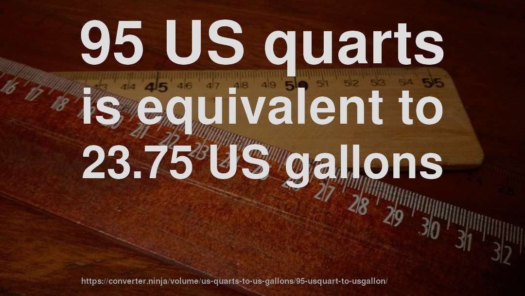 95 Us Quarts Is Equivalent To 23 75 Gallons