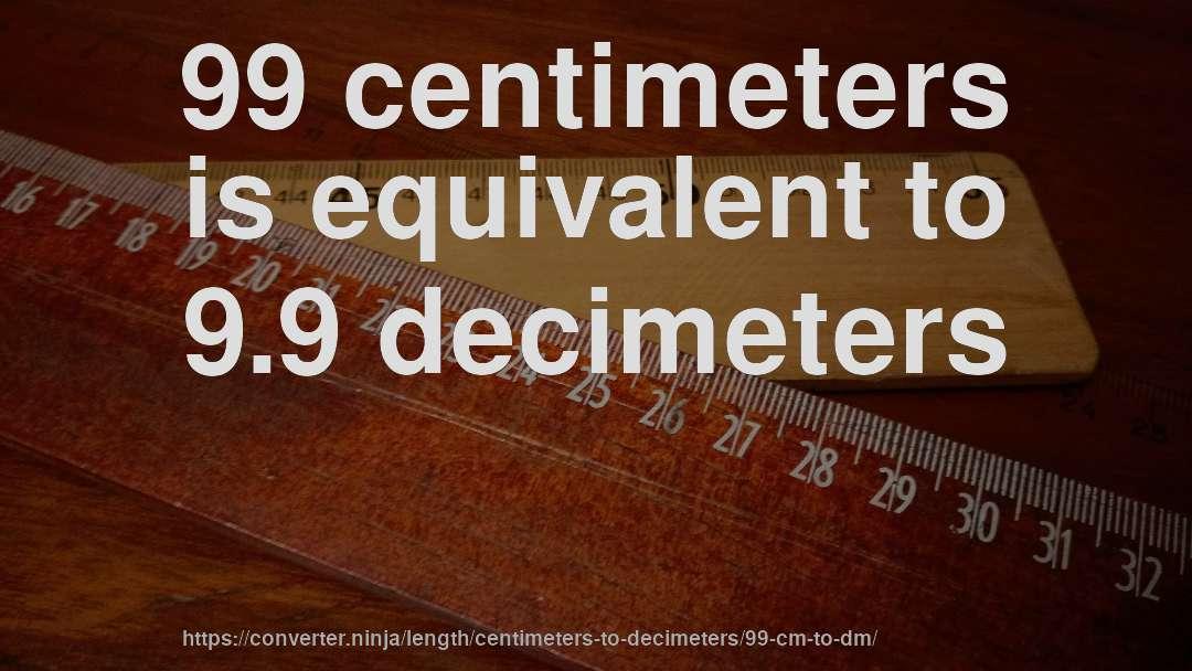 99 Centimeters Is Equivalent To 9 Decimeters
