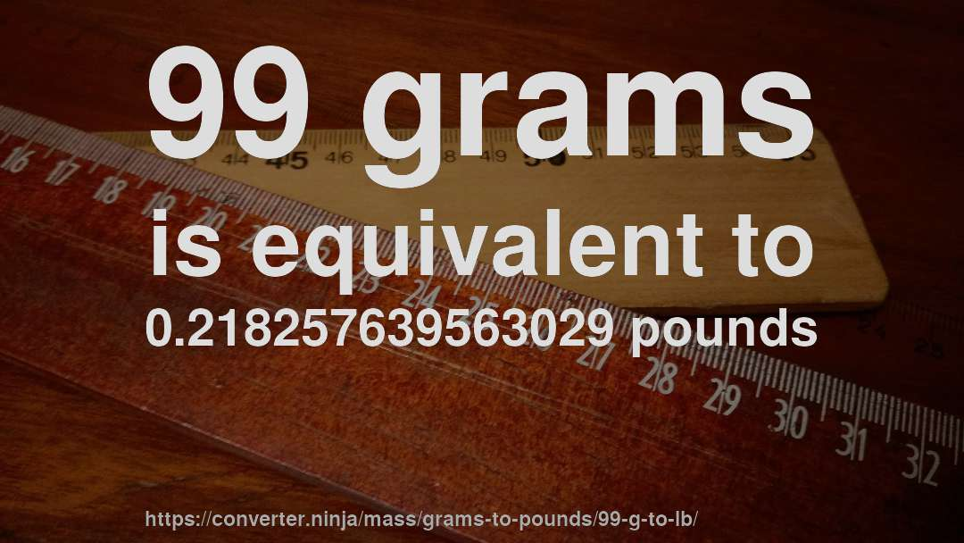 How Much Is 99 Grams In Pounds